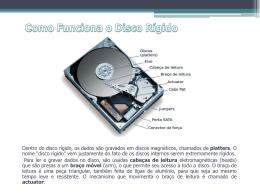 Apresentação sobre o HD (Formato PPT – MS Office