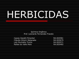 QuÃmica Orgânica - HERBICIDAS