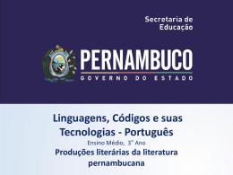 Produções literárias da literatura pernambucana