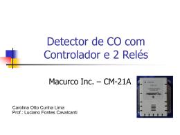 Detector de CO com controlador e 2 relés