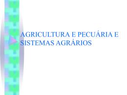 agricultura e pecuária e sistemas agrários