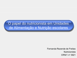 O Papel do nutricionista na escola - REBRAE