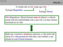 Noção e natureza da Teologia Moral