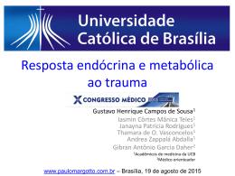 Resposta endócrina e metabólica ao trauma