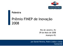 FINEP de Inovação 2008  - Assespro-RJ