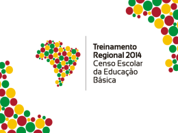 Treinamento Regional do Censo Escolar