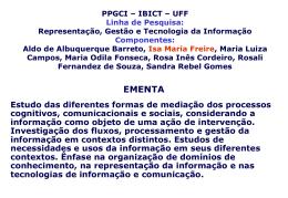 Semináriono PPGCI UFF nov. 2004 - Isa Freire