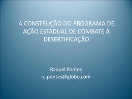 A CONSTRUÇÃO DO PROGRAMA DE AÇÃO
