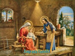 Em clima natalício, celebramos a festa da SAGRADA FAMÍLIA. O