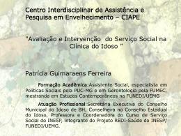 2. Intervenção do Serviço Social
