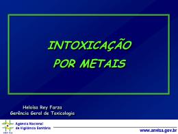 Intoxicação por metais