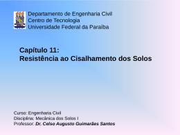 Cap. 11 - Centro de Tecnologia - Universidade Federal da Paraíba