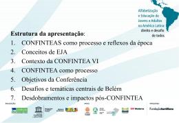 VI CONFINTEA - Portal dos Fóruns de EJA