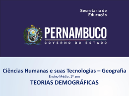 Teorias Demográficas - Governo do Estado de Pernambuco