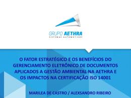 Certificado ISO 14001 Aethra Betim Projeto nº 70595 Ano