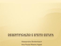 Desertificação e Efeito Estufa