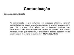 Comunicação rotineira