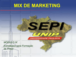 MIX DE MARKETING - Ambiente Virtual de Aprendizado
