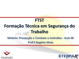 FTST 2013 PCI Aula 0.. - Ensino a Distância de Qualidade