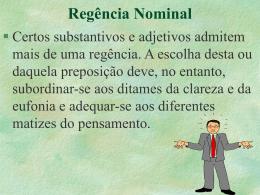 regência nominal.