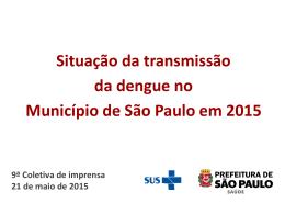 Coeficiente de Dengue - Prefeitura de São Paulo