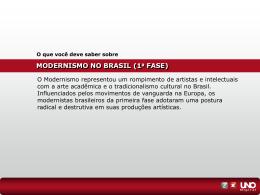MODERNISMO NO BRASIL (1 a FASE)