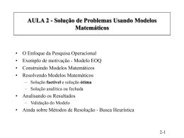 Resolvendo Problemas com Modelos Matemáticos