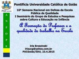 Semana Nacional Palestra Iria Brzezinski