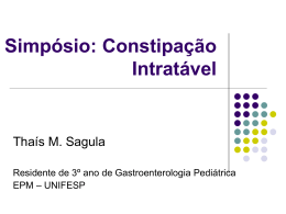 Constipação Intratável - The Eletronic Journal of Pediatric