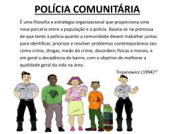 OS DEZ PRINCÍPIOS DA POLÍCIA COMUNITÁRIA