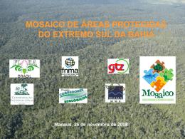 MOSAICO DE ÁREAS PROTEGIDAS DO EXTREMO SUL DA BAHIA