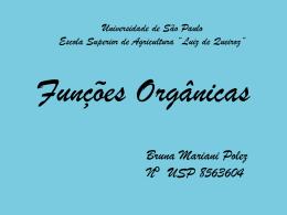 Funções organicas 12 - USP - Universidade de São Paulo
