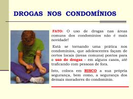 drogas - Direcional Condomínios