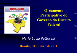 O DF depende do Governo Federal