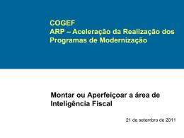 COGEF Anexo 7 Ata 13a Reunião RJ Sit Inteligência Fiscal Estados