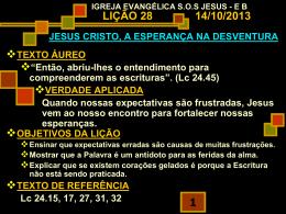 Jesus Cristo - A esperança na desventura