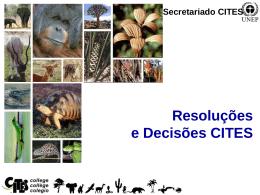 Resoluções e Decisões CITES