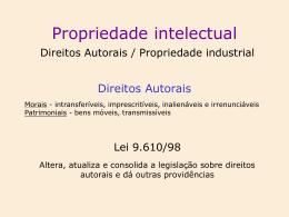 2. Direitos Patrimoniais