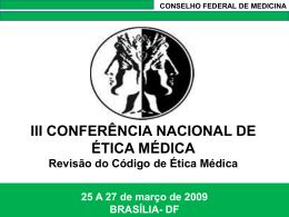 iii conferência nacional de ética médica