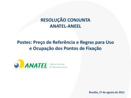 Apresentação sobre a resolução conjunta Anatel