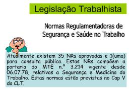 NR.1 Disposições Gerais Normas Regulamentadoras