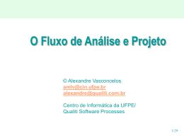 O Fluxo de Análise e Projeto - Sefaz-AL