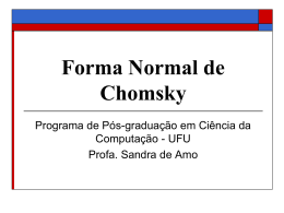 Slides - Forma Normal de Chomsky
