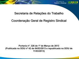 Portaria 326/2013