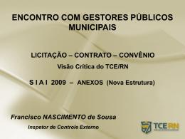 DESPESA PÚBLICA RESOLUÇÃO N° 012/2007 – TCE/RN