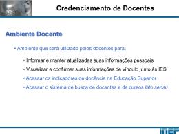 CredenciamentoPortalSINAES