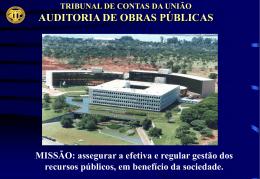 Obras Públicas - Tribunal de Contas da União
