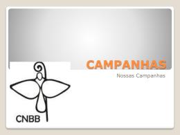 CAMPANHAS - Diocese de Coxim