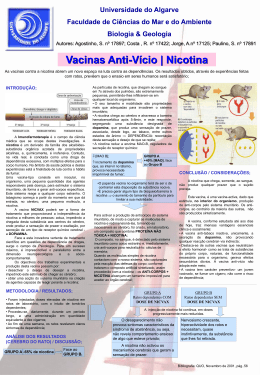 Vacinas Anti-Vício - Nicotina