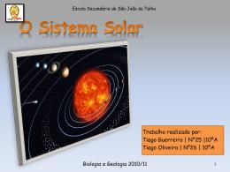 O Sistema Solar.
